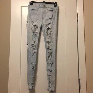 American eagle super stretch high rise jeggings